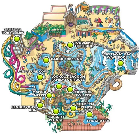 Castaway Bay map