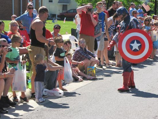 Captain America in the Hilliard parade