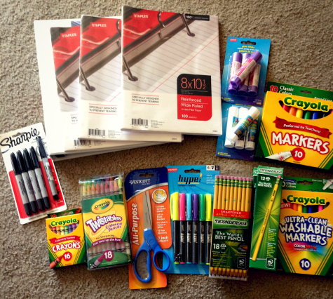 School supplies from Staples