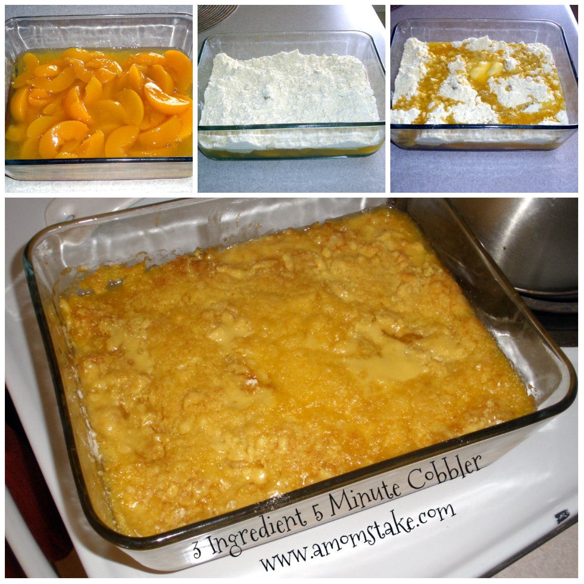 3 Ingre Nt Peach Cobbler With Cake Mix In 5 Minutes
