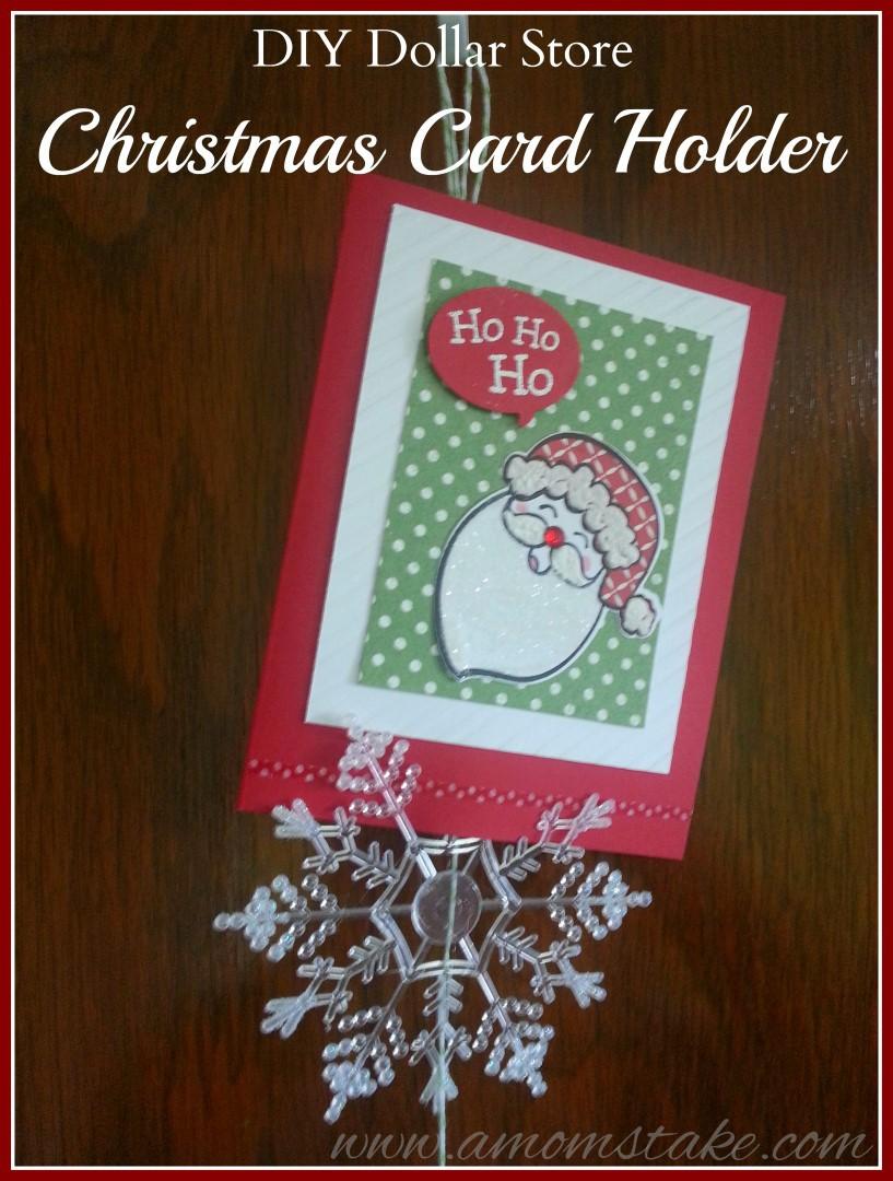 DIY Dollar Store Christmas Card Holder A Moms Take