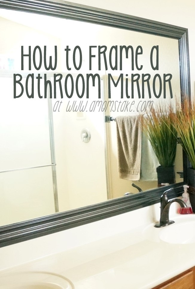 how to frame a mirror the builder's installed - a mom's take