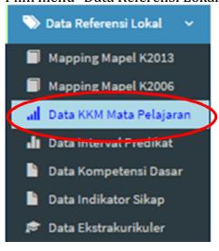Cara Input Kriteria Ketuntasan Minimal KKM Aplikasi e-Rapor SMP 2017