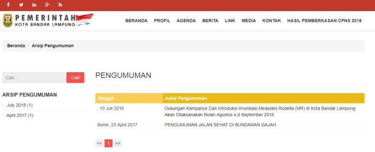 Jadwal dan Lokasi Tes Kompetensi Dasar CPNS Kota Bandar Lampung Tahun 2018