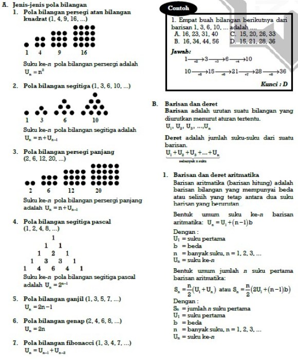 Contoh Soal Pola Bilangan Kelas 8 Beserta Jawabannya Soal Soal