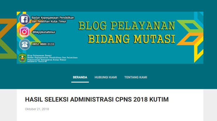 Jadwal dan Lokasi Tes Kompetensi Dasar CPNS Kabupaten Kutai Timur Tahun 2018