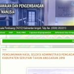 Jadwal dan Lokasi Tes Kompetensi Dasar CPNS Kabupaten Seruyan Tahun 2018