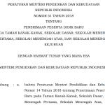 Permendikbud Nomor 51 Tahun 2018 tentang Petunjuk Teknis PPDB 2019