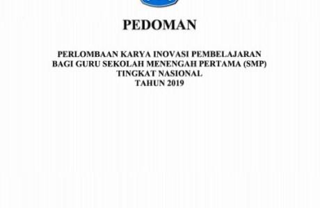 Pedoman Lomba Karya Inovatif Pembelajaran Inobel Guru SMP 2019