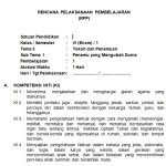 Download RPP Kelas 6 SD Kurikulum 2013 Edisi Revisi 2018
