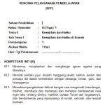 Download RPP Kelas 3 SD Kurikulum 2013 Edisi Revisi 2018 Tema 4