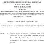 Download Permendikbud Nomor 16 Tahun 2019 tentang Linieritas Guru