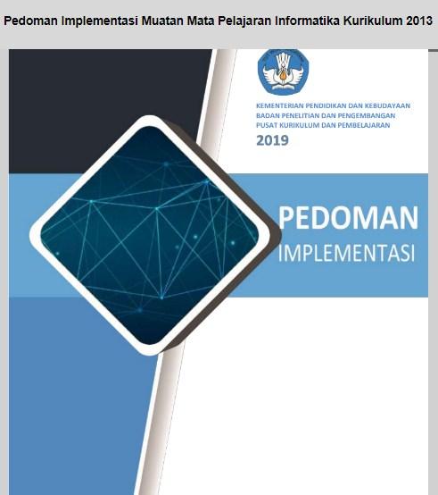 Download Pedoman Implementasi Muatan Mapel Informatika Kurikulum 2013