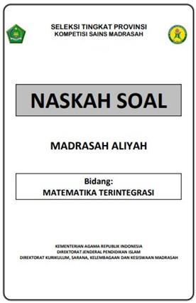 Download Contoh Soal Ksm Ma Tingkat Provinsi Tahun 2020