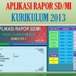 Aplikasi Rapor Kelas 1 SD MI Semester 2 Kurikulum 2013 Tahun 2021