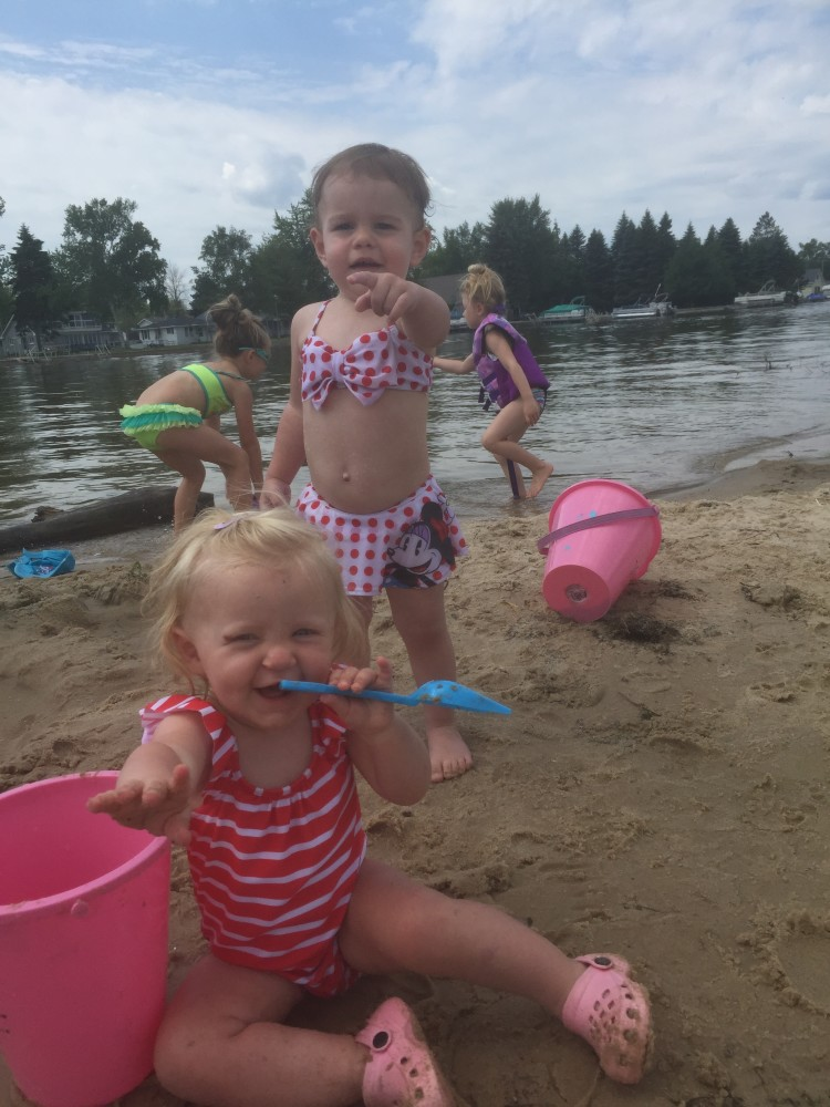 Brooklynn and Emmy.  One of the few moments of the trip they weren't both eating.