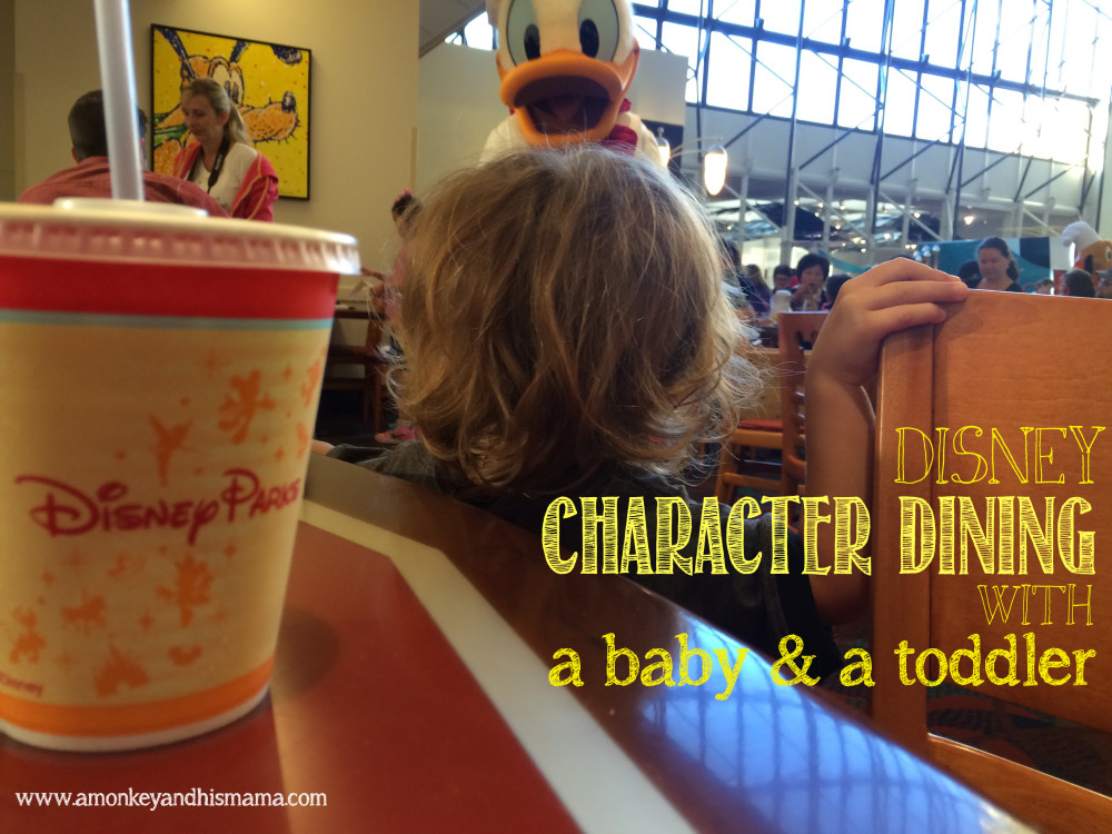 disney character dining with a baby and a toddler // www.amonkeyandhismama.com