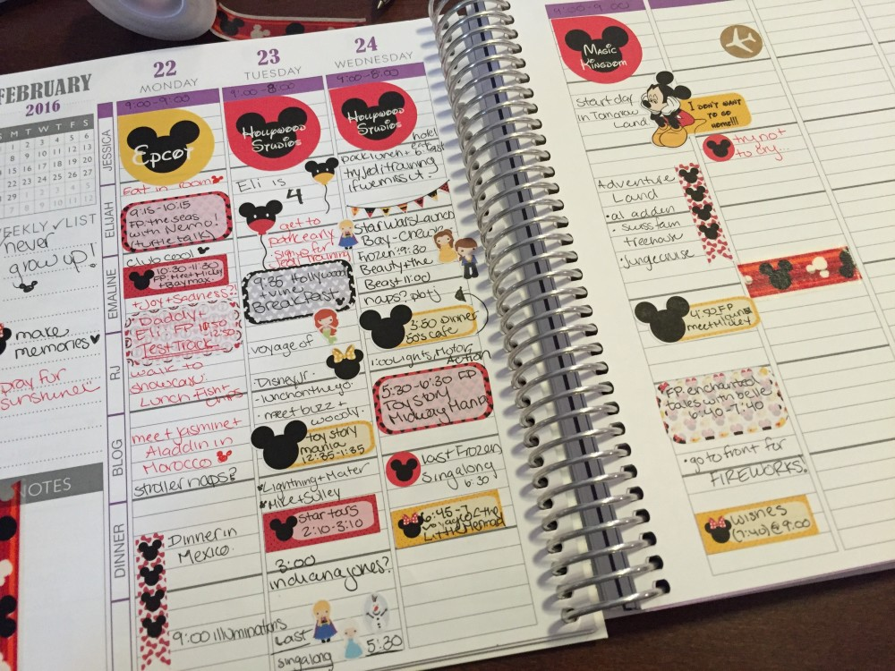 disney world with toddlers: planning out my days with the pretty planner // a monkey and his mama