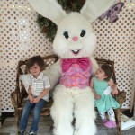 Visiting the Easter Bunny, at Somerset Collection.