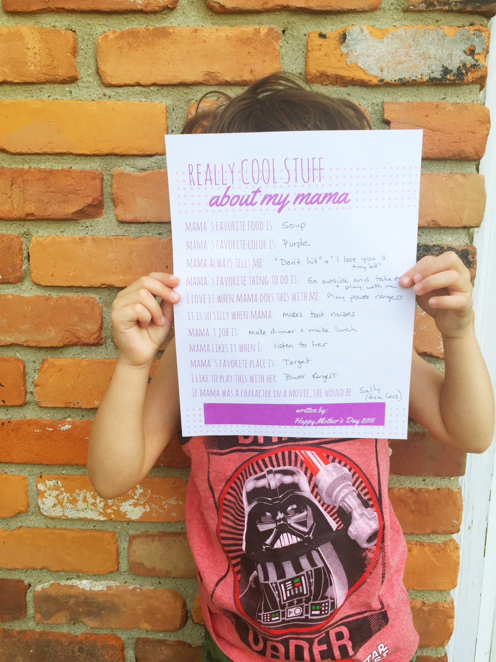 an easy, last minute, mother's day gift idea and a free printable // a monkey and his mama