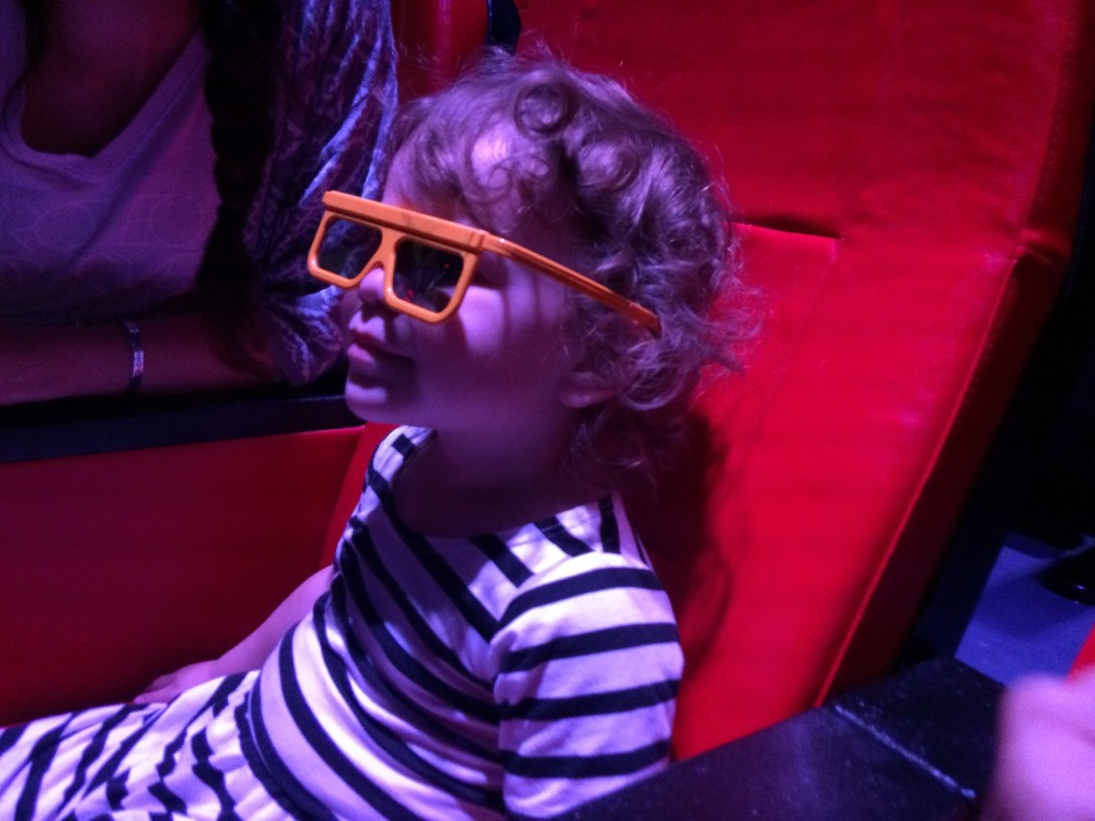 Nexo Knights 4D Movie at LEGOLAND Discovery Center Michigan// a monkey and his mama