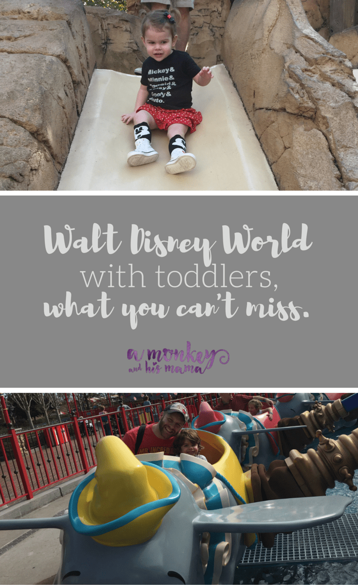 Walt Disney World with toddlers, what you can't miss via a monkey and his mama