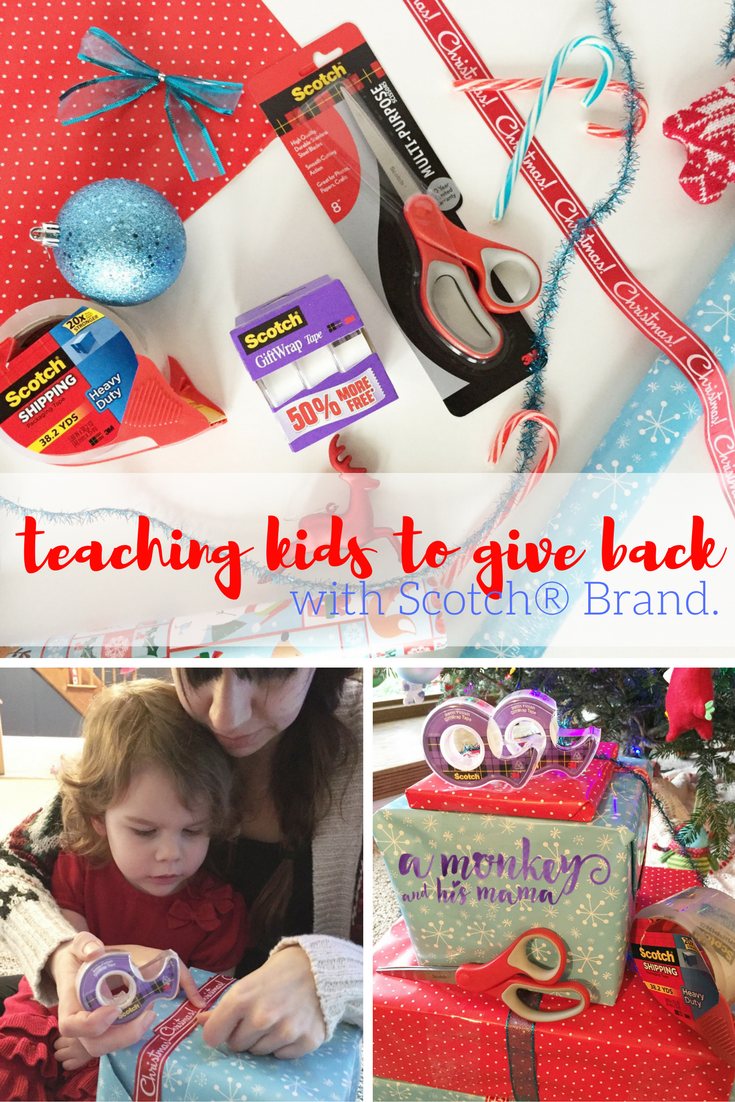 Teaching Kids to Give Back, with Scotch® Brand // a monkey and his mama