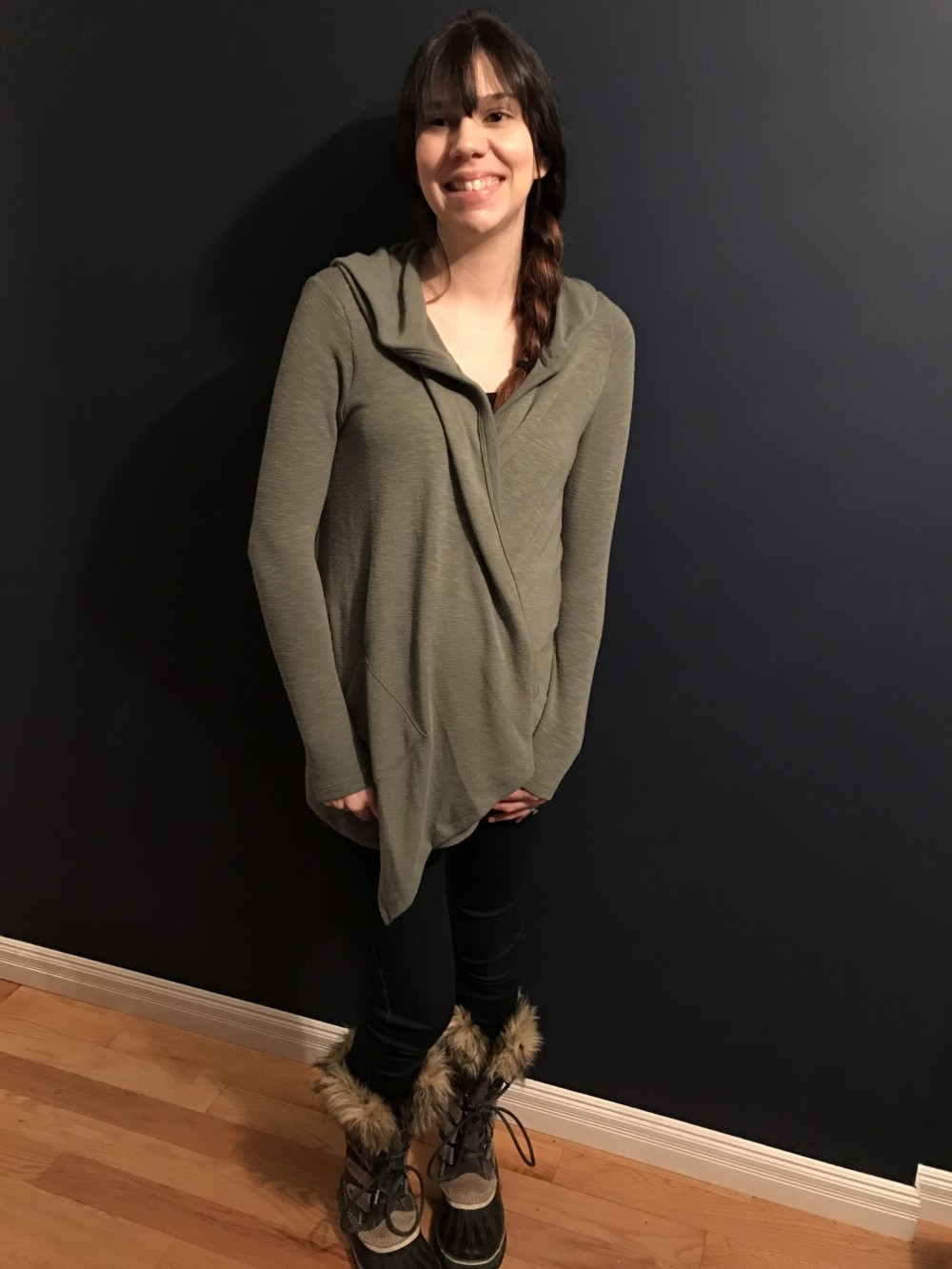 Salderas Hooded Cardigan from Laila Jayde // my non-maternity maternity Stitch Fix // a monkey and his mama