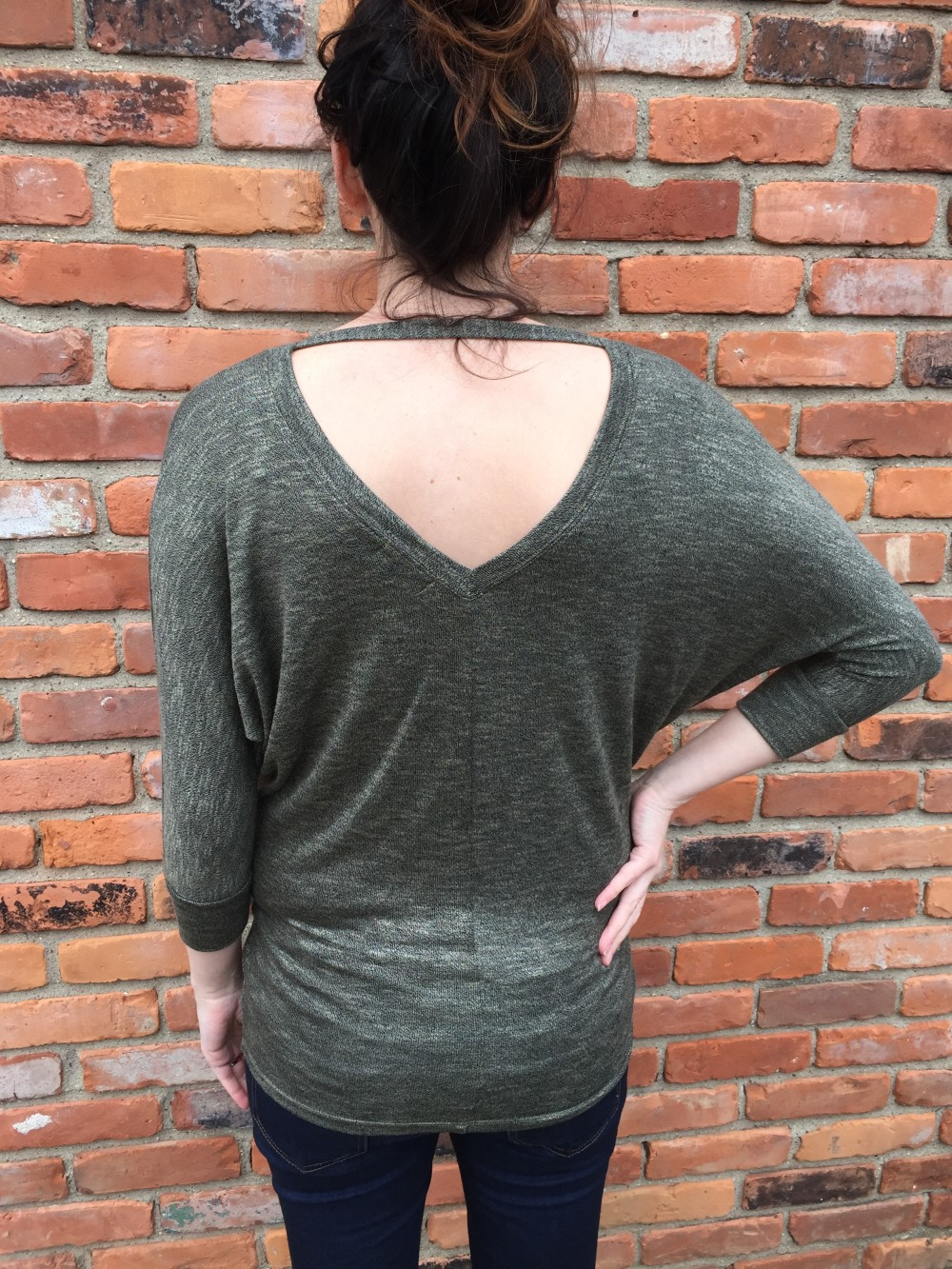 market & spruce ashmere bar back dolman knit top // january stitch fix // a monkey and his mama