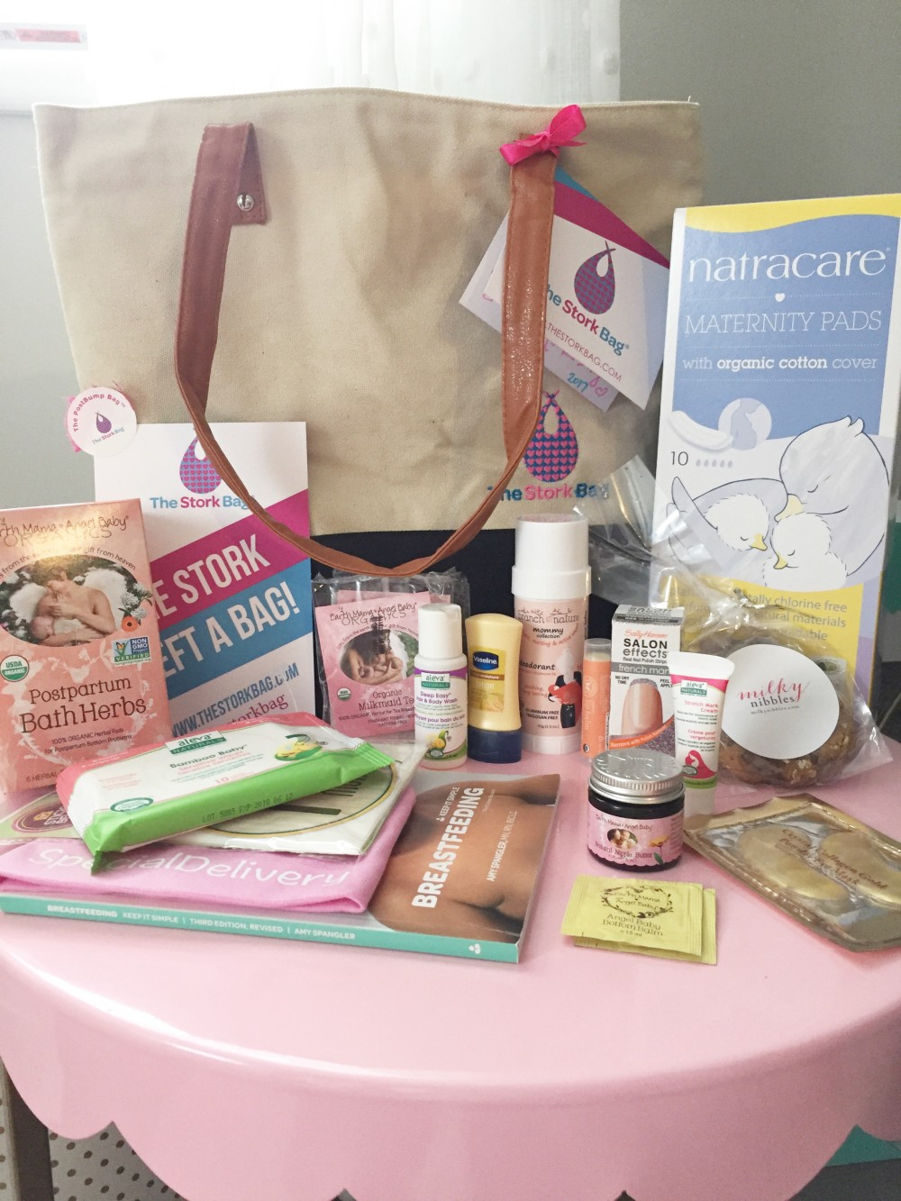 post bump bag from the stork bag subscription box