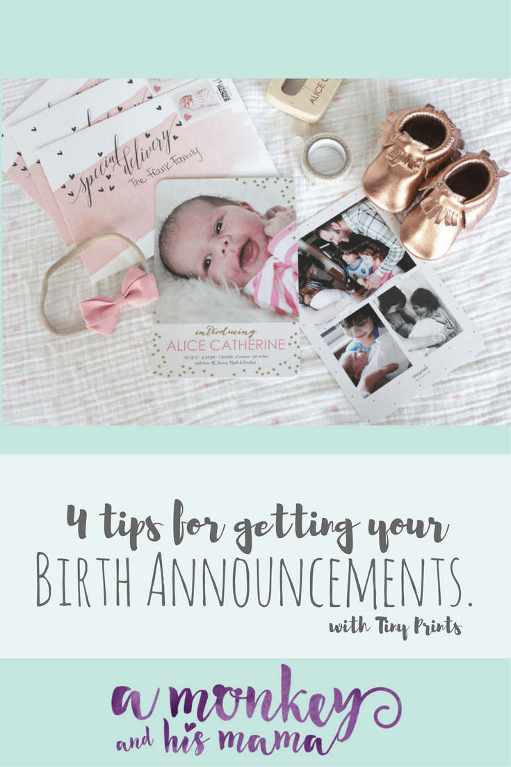 tips for ordering birth announcements