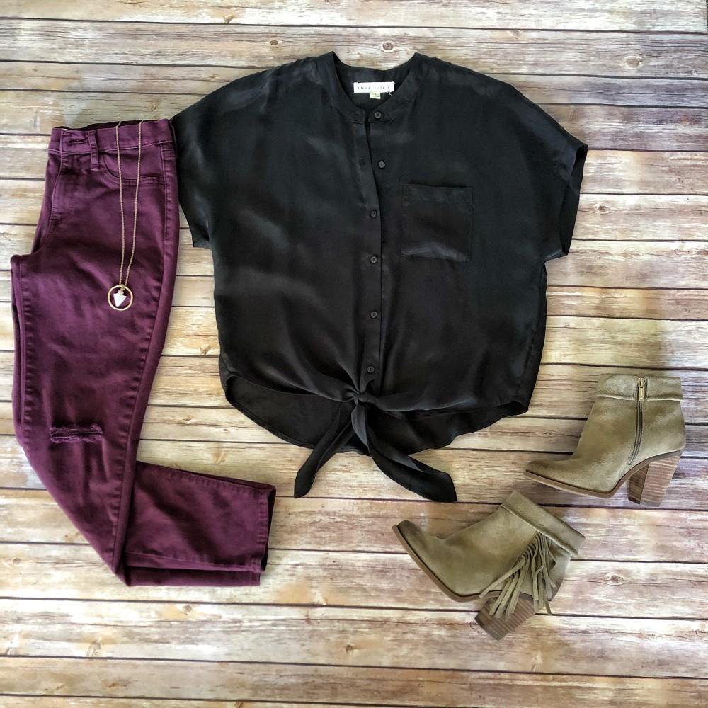 lovestitch blouse flat lay