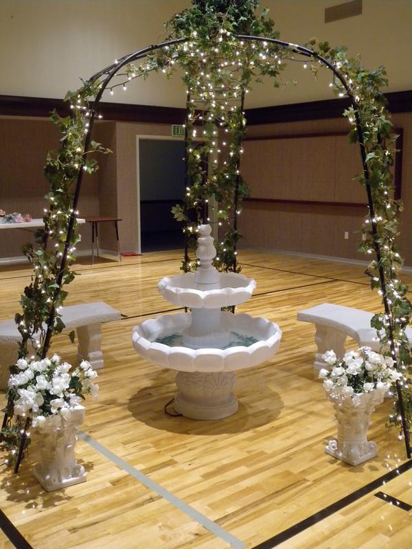 Garden Wedding Fountain Rental