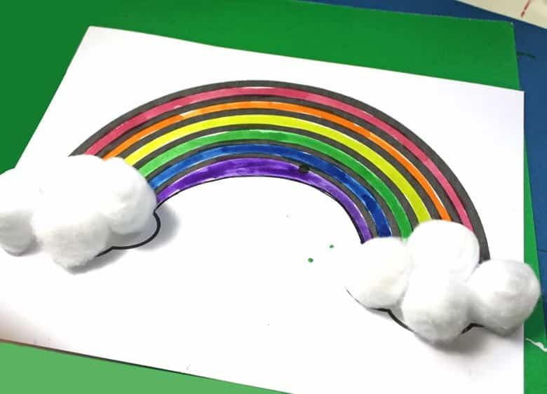 rainbow crafts - crafts for kids- kid crafts - amorecraftylife.com #preschool #kidscraft #craftsforkids