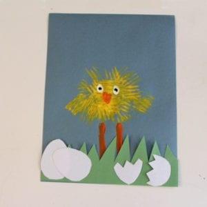 chick craft - easter craft - spring craft - crafts for kids- kid crafts - amorecraftylife.com #preschool