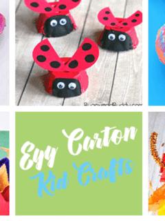 egg carton Kid Crafts- earth day kid craft - woodland amorecraftylife.com #kidscrafts #craftsforkids #preschool