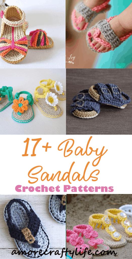 baby sandals crochet patterns - crochet pattern pdf - baby shoes crochet patterns - baby booties - amorecraftylife.com #baby #crochet #crochetpattern