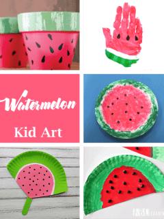 watermelon plate craft - watermelon craft - summer crafts - crafts for kids- kid crafts - amorecraftylife.com #preschool #kidscraft #craftsforkids