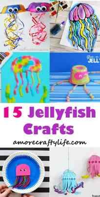 jellyfish kid crafts - ocean kid crafts - crafts for kids - kid craft -#kidscraft #preschool #craftsforkids amorecraftylife.com