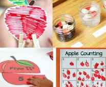 apple activity fall activity - kid activity #preschool #craftsforkids amorecraftylife.com