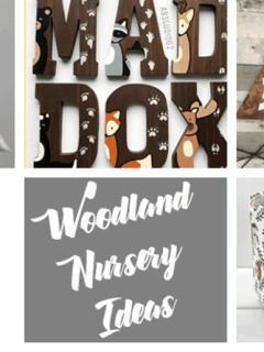 woodland nursery ideas- boy nursery theme - animal nursery - amorecraftylife.com #baby #nursery #babygift #babyboy