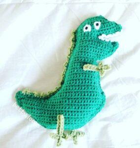 dinosaur crochet pattern - crochet pattern pdf - amorecraftylife.com