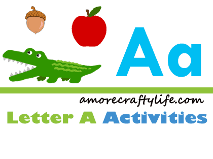 Letter A Activities - Crafts for Letter A - Preschool kid craft - alphabet math recipe amorecraftylife.com #preschool #craftsforkids #kidscrafts