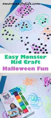 scribble monsters kid craft - halloween kid craft -amorecraftylife.com #kidscraft #craftsforkids #preschool