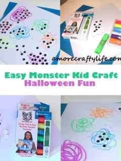 scribble monsters kid craft - halloween kid craft -amorecraftylife.com #kidscraft #craftsforkids #preschool