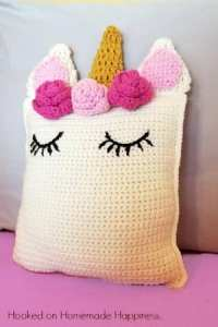unicorn pillow crochet pattern
