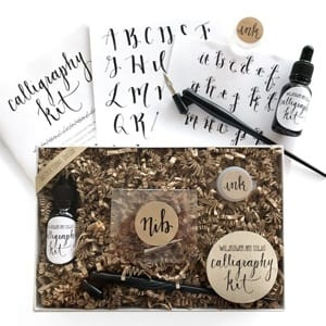 calligraphy kit - DIY craft kits - gift ideas- creative gifts - arts and crafts activities - amorecraftylife.com