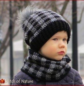 plaid crochet patterns - crochet pattern pdf - cowl hat crochet pattern - amorecraftylife.com #hat #plaid #crochet #crochetpattern