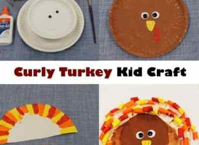 Curly Turkey Kid Craft Thanksgiving Activity A More
