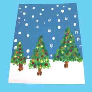 Fingerprint Christmas Tree Kid Craft A More Crafty Life